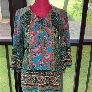 Fig and Flower boho top